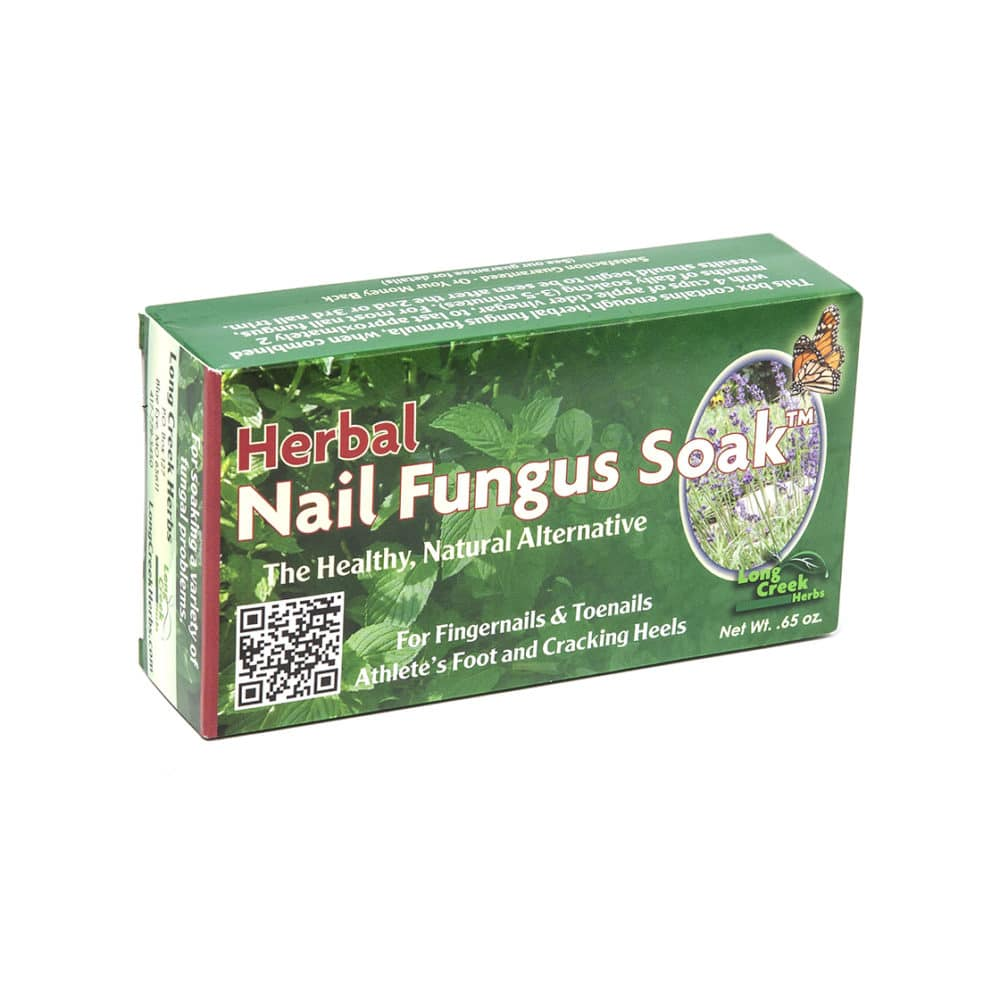 Herbal Nail Fungus Soak for toenail fungus, athlete's foot and cracked heels.