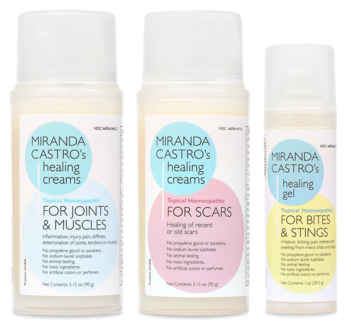 Miranda Castro's Healing Creams: Joints and Muscles, Scars, Bites and Stings