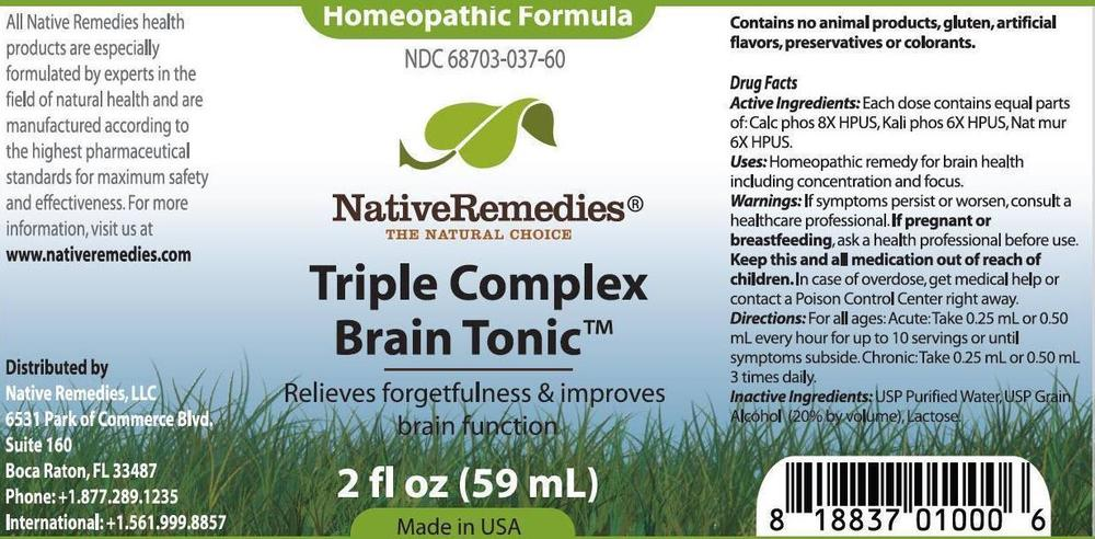 Triple Brain Tonic Cell Salts Combination Label